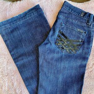 7 For All Mankind DOJO jeans! Women's size 25